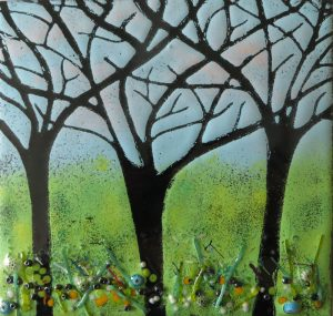 Enamel of Forest by Jeanette Hannaby