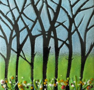 Enamel of spring woods by Jeanette Hannaby
