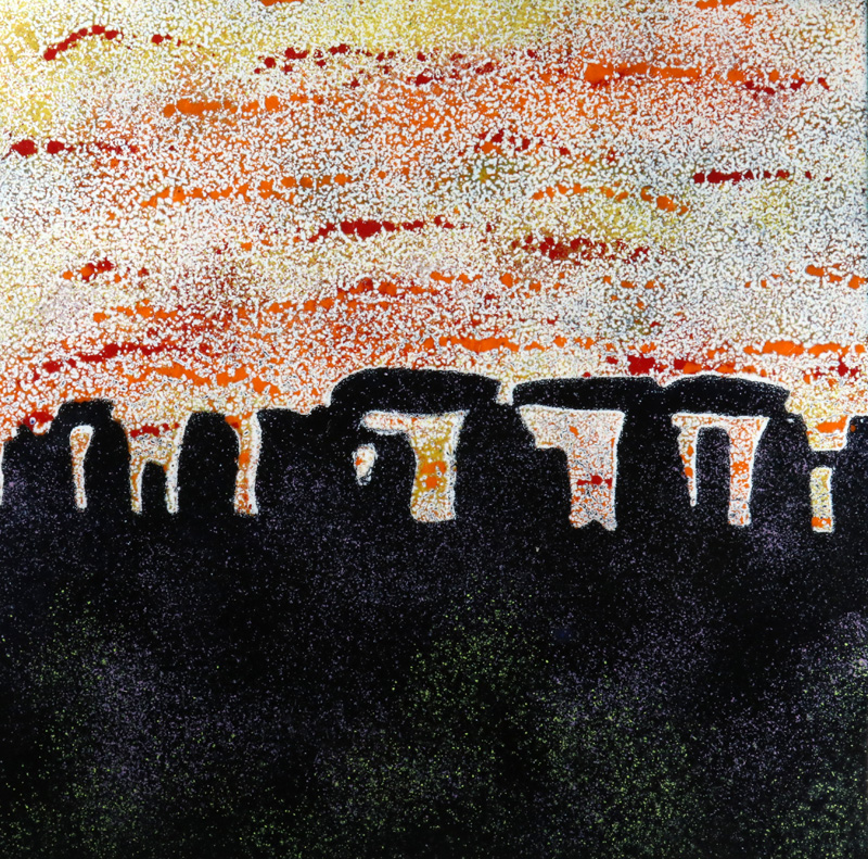 Stonehenge enamel picture by Jeanette Hannaby