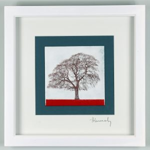 Enamel picture of the tree on the way to Goodrich Castle. By Jeanette Hannaby