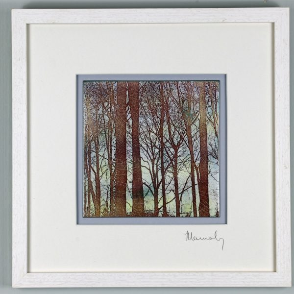 Enamel picture of Wigpool woods in the Forest of Dean. by Jeanette Hannaby