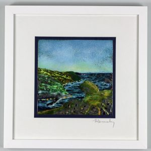 enamel picture of Boscastle in North Cornwall. by Jeanette Hannaby