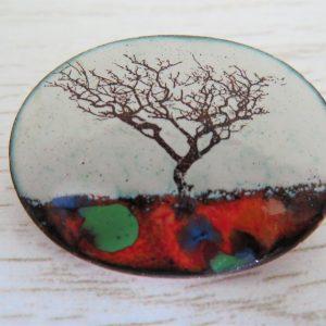 Enamel brooch by Jeanette Hannaby