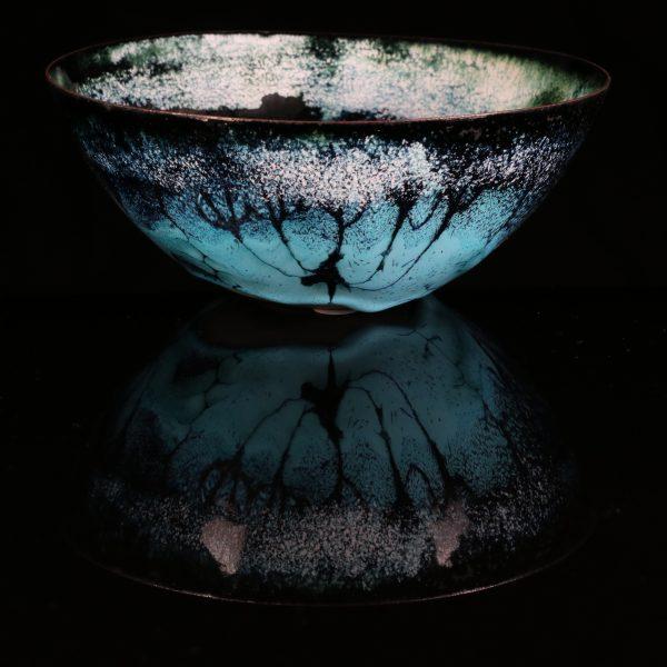 large enamel bowl by Jeanette Hannaby