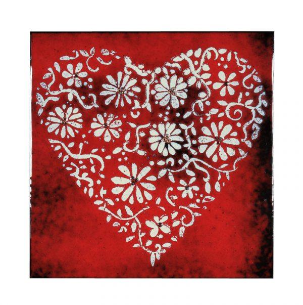 Enamel heart by Jeanette Hannaby enamel artist